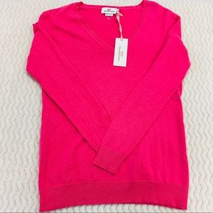 NWT Vineyard Vines V-Neck Sweater Pink Size XXS